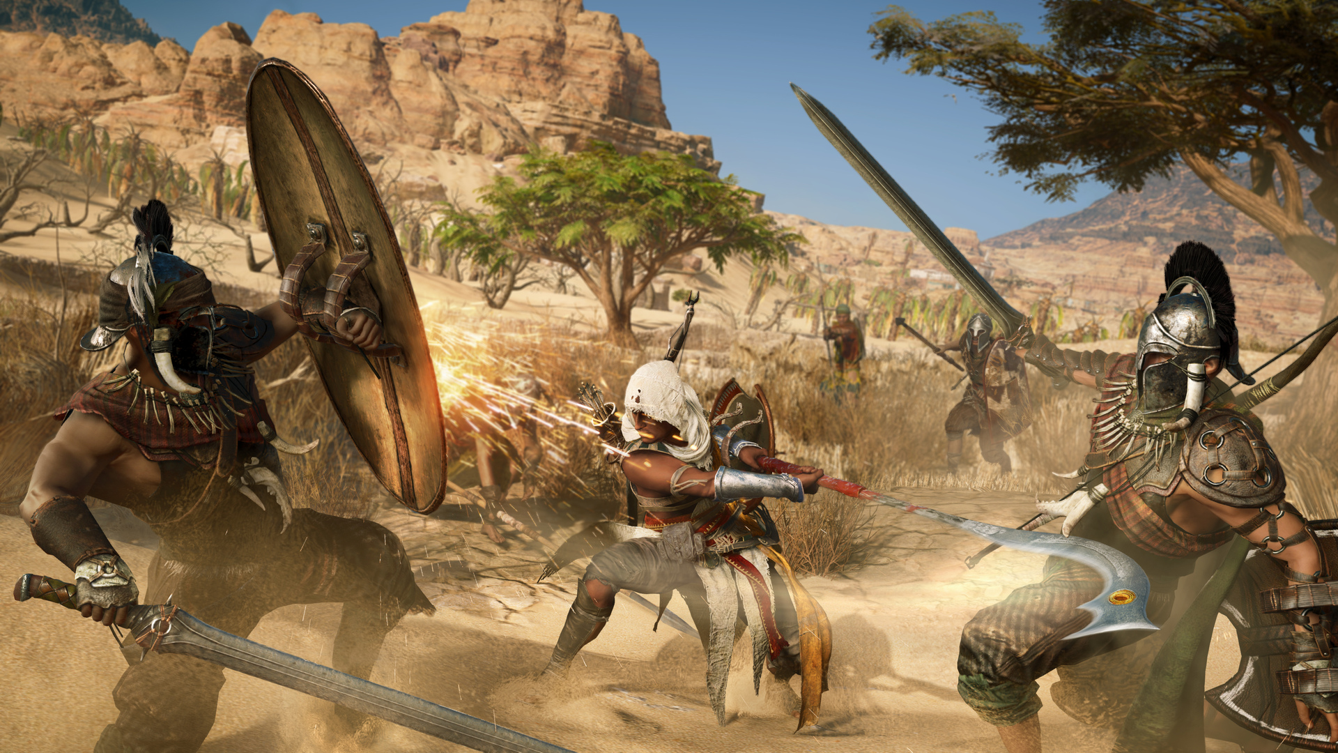 Показана боевая система Assassin's Creed Origins